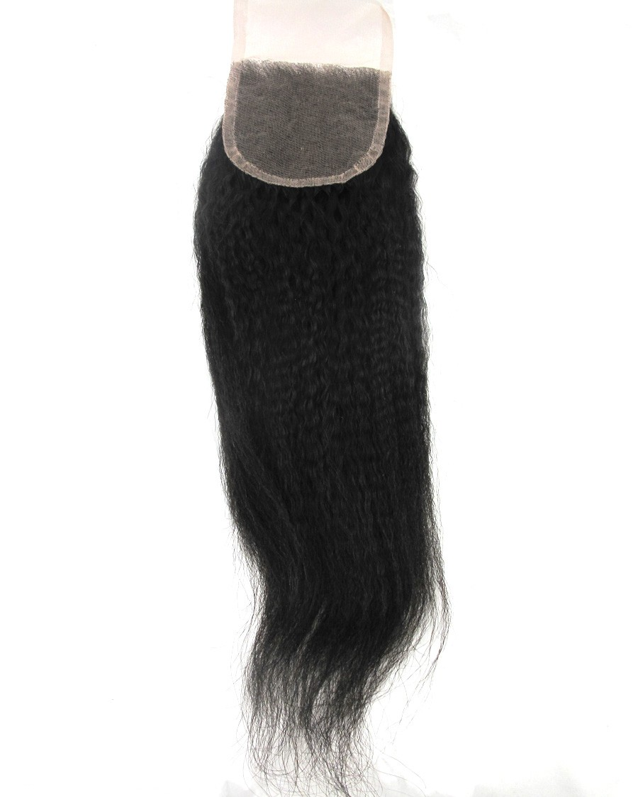 closure kinky straight malaisian hair