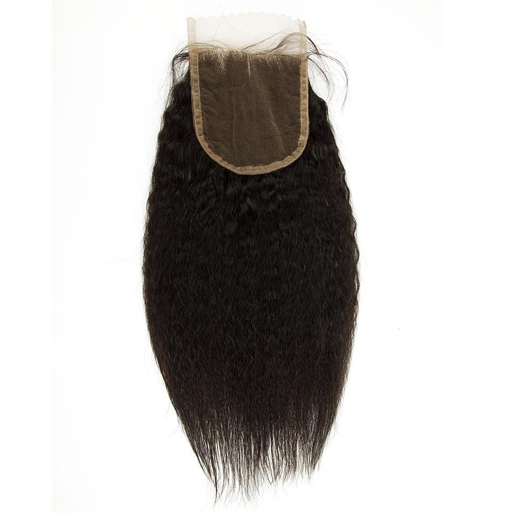 closure kinky straight brazilian hair