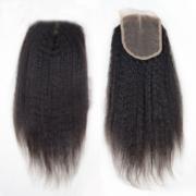 closure kinky straight indian hair