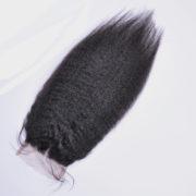closure kinky straight peruvian hair