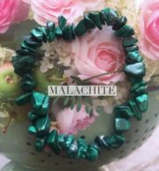 Malachite Crystal Healing Chip Bracelets