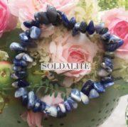 Sodalite Crystal Healing Chip Bracelets