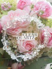 Clear Quartz Crystal Healing Chip Bracelets