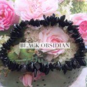 Black Obsidian Crystal Healing Chip Bracelets