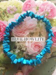 Blue Howlite Crystal Healing Chip Bracelets
