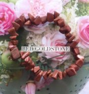 Red Goldstone Crystal Healing Chip Bracelets
