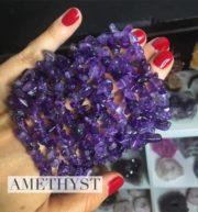 Amethyst Crystal Healing Chip Bracelets