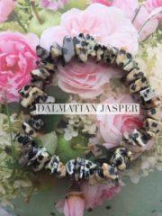 Dalmatian Jasper Crystal Healing Chip Bracelets