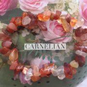 Carnelian Crystal Healing Chip Bracelets
