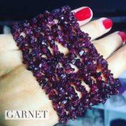 Garnet Crystal Healing Chip Bracelets