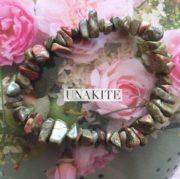 Unakite Crystal Healing Chip Bracelets