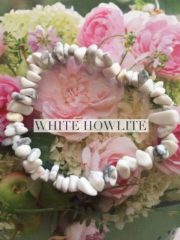 White Howlite Crystal Healing Chip Bracelets