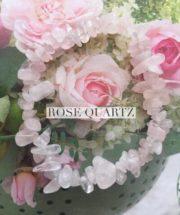 Rose Quartz Crystal Healing Chip Bracelets