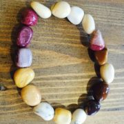 Chunky Crystal Bracelets - Mookaite Jasper