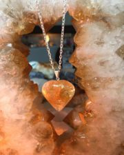 Citrine Heart Pendants