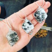 Rainbow Moonstone Crystal Cage Pendants