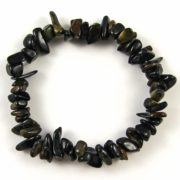 Blue Tigers Eye Gemstone Chip Bracelet