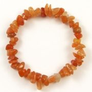 Orange Aventurine Gemstone Chip Bracelet
