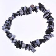 Snowflake Obsidian Gemstone Chip Bracelet