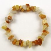 Yellow Jade Gemstone Chip Bracelet